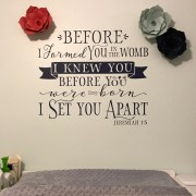Jeremiah 1v5 Vinyl Wall Decal 18