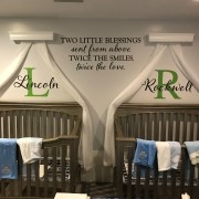 Two little blessings Vinyl Wall Decal by Wild Eyes Signs