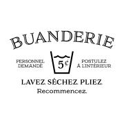 Buanderie French Laundry Vinyl Wall Decal