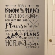 Jeremiah 29v11 Vinyl Wall Decal 2