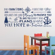 Jeremiah 29v11 Vinyl Wall Decal 5