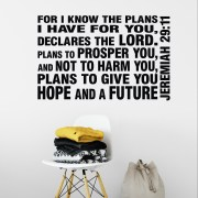 Jeremiah 29v11 Vinyl Wall Decal 7