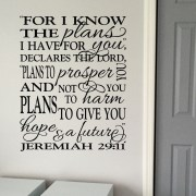Jeremiah 29v11 Vinyl Wall Decal 9