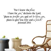 Jeremiah 29v11 Vinyl Wall Decal 13