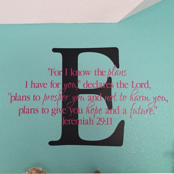 Jeremiah 29v11 Vinyl Wall Decal 18