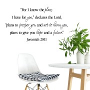 Jeremiah 29v11 Vinyl Wall Decal 29