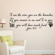 John 15v5 Vinyl Wall Decal 1