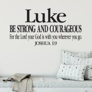 Joshua 1v9 Vinyl Wall Decal 12