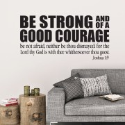 Joshua 1v9 KJV Vinyl Wall Decal 43
