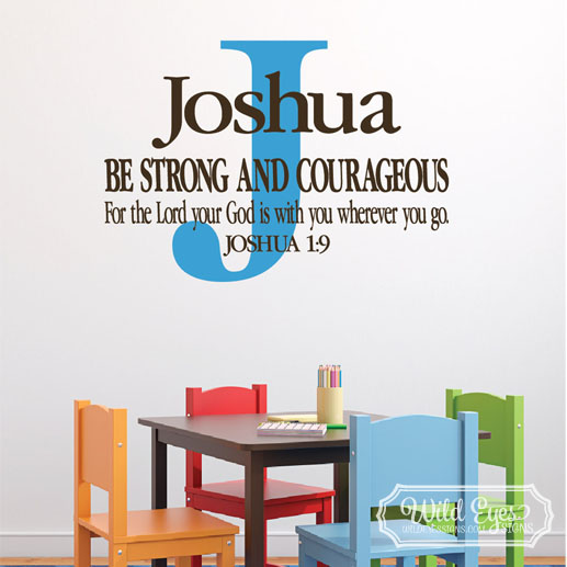 Joshua 1v9 Vinyl Wall Decal 10