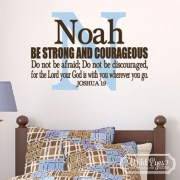 Joshua 1v9 Vinyl Wall Decal 11