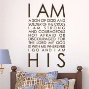 Joshua 1v9 Vinyl Wall Decal 22