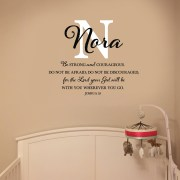 Joshua 1v9 Vinyl Wall Decal 24