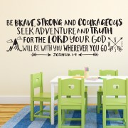 Joshua 1v9 Vinyl Wall Decal 29