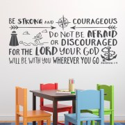 Joshua 1v9 Vinyl Wall Decal 34