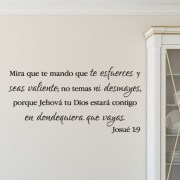 Joshua 1V9 Vinyl Wall Decal 39 Spanish