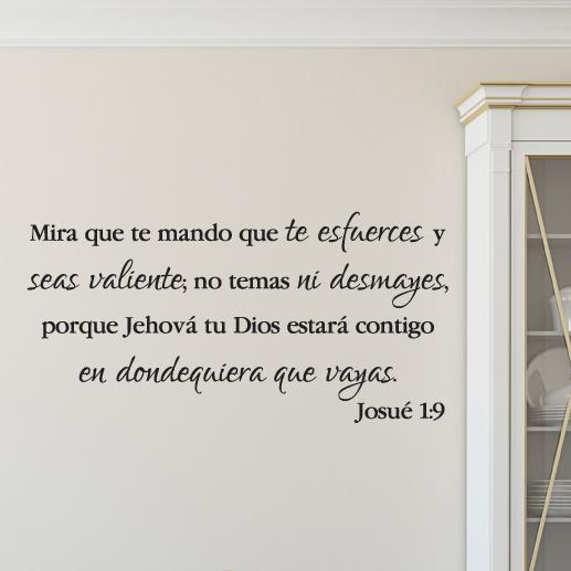 Joshua 1V9 Vinyl Wall Decal 39 Spanish