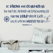 Joshua 1v9 Vinyl Wall Decal 40