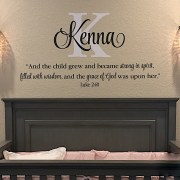 Luke 2v40 Vinyl Wall Decal 2
