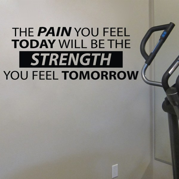The Pain You Feel Today Will Be the Strength You Feel Tomorrow Vinyl Wall Decal