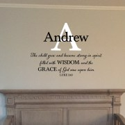 Luke 2v40 Vinyl Wall Decal 3
