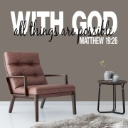 Matthew 19v26 Vinyl Wall Decal 2
