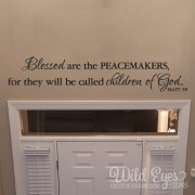 Matthew 5v9 Vinyl Wall Decal 2