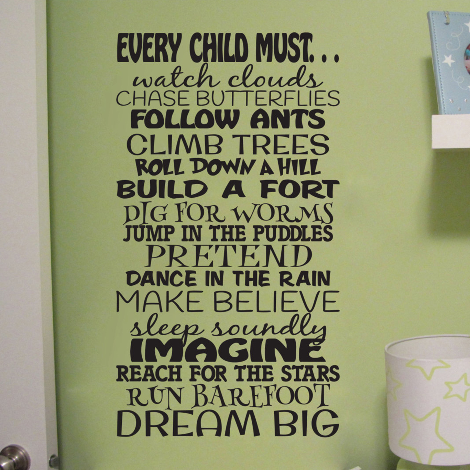 Every Child Must Dream Big Vinyl Wall Decal by Wild Eyes Signs, Children  Subway Art, Boys Room, Toddler Bedroom, Playroom Decal, Family Room,  Nursery ...
