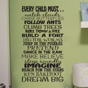 Every Child Must Dream Big Vinyl Wall Decal