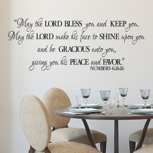 Numbers 6v24-26 Vinyl Wall Decal 3