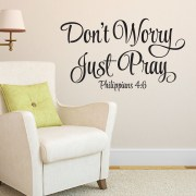 Philippians 4v6 Vinyl Wall Decal 1
