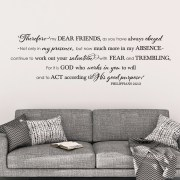 Philippians 2v12-13 Vinyl Wall Decal 2
