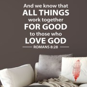 Romans 8v28 Vinyl Wall Decal 1