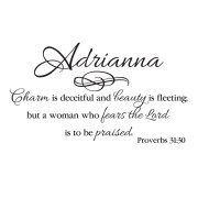 Proverbs 31v30 Vinyl Wall Decal 3