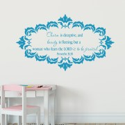 Proverbs 31v30 Vinyl Wall Decal 7