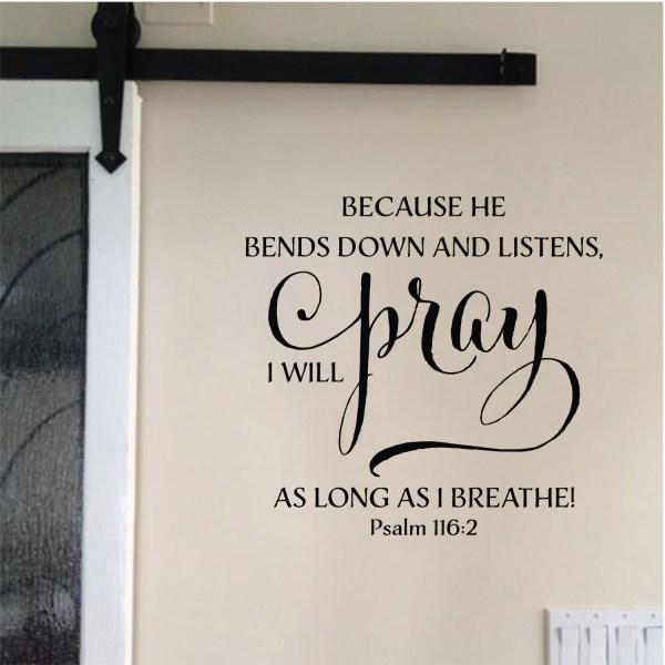 Psalm 116v2 Vinyl Wall Decal 1