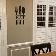 EAT Silverware Vinyl Wall Decal