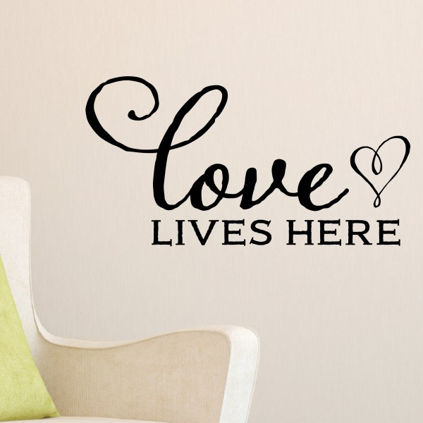 Love Lives Here Vinyl Wall Decal