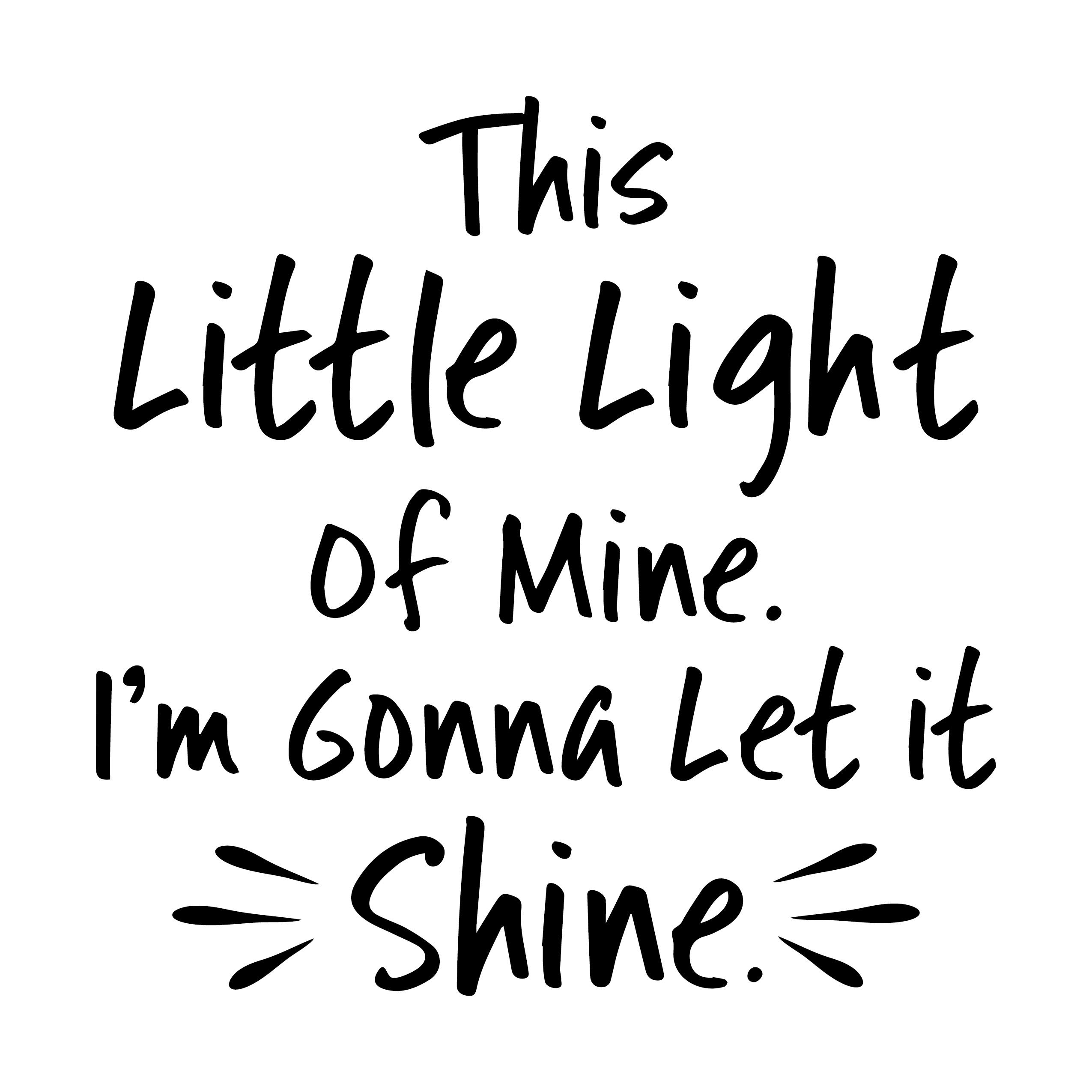 This little light of mine, I'm gonna let it shine Vinyl