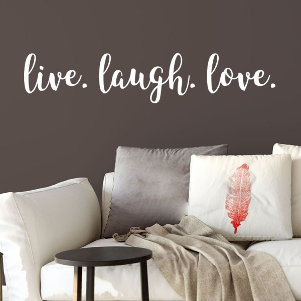 Live Laugh Love Vinyl Wall Decal