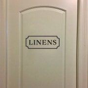 LINENS Vinyl Wall Decal
