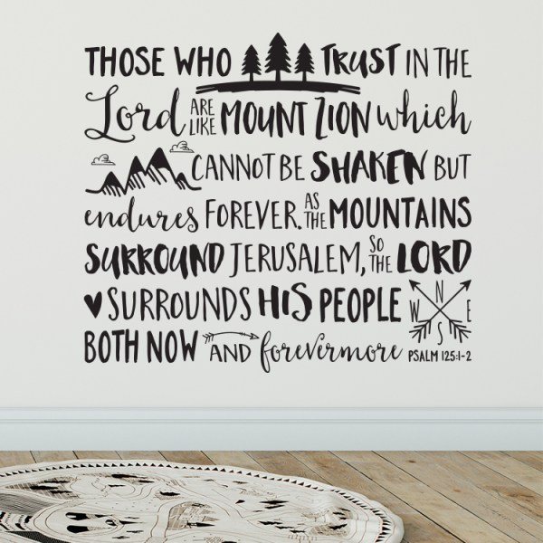 Psalm 125v1 Vinyl Wall Decal