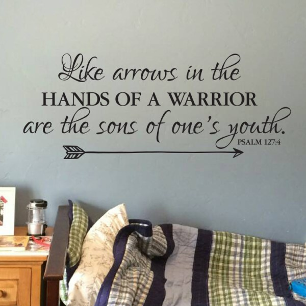 Psalm 127v4 Vinyl Wall Decal 2