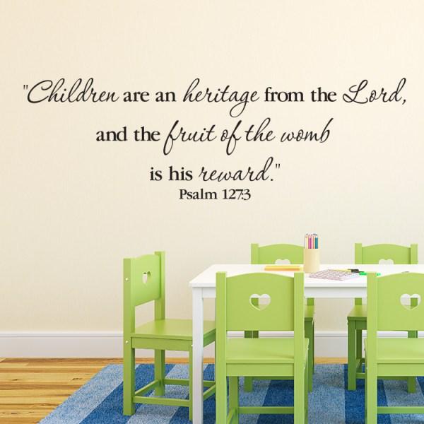 Psalm 127v3 Vinyl Wall Decal 7