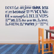 1 Timothy 4v12 Vinyl Wall Decal 13