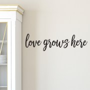 Love Grows Here Vinyl Wall Decal