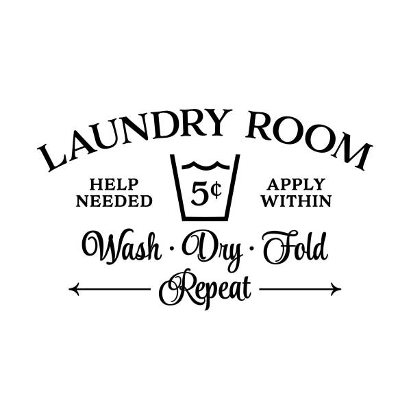 Laundry Room Help Needed Apply Within Vinyl Wall Decal 3