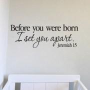 Jeremiah 1v5 Vinyl Wall Decal 25