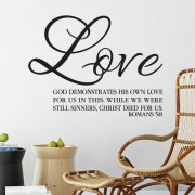 Romans 5v8 Vinyl Wall Decal 2