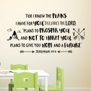 Jeremiah 29:11 Vinyl Wall Decal 30